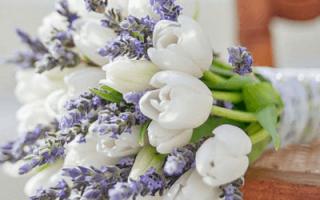Белые свадебные букеты (фото)