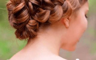 Косы на свадьбу, прически с плетением