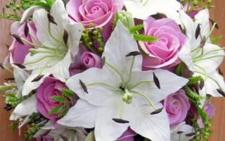 Свадебные букеты невесты из лилий