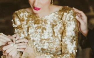 «Как будут смотреться свадебные платья золотого цвета?[
