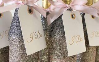 Как украсить шампанское на свадьбу: разные техники и способы