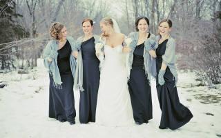 Зимний наряд жениха и невесты