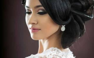 Свадебные прически с диадемой и фатой (фото)