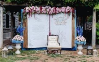 Задний фон свадьбы из цветов, оформление заднего фона на свадьбу