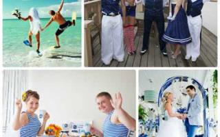 «Как правильно составить сценарий свадьбы в морском стиле?[