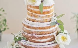Открытые торты на свадьбу без мастики (фото)