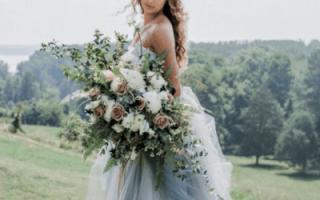 «Вместе собираем шикарный свадебный букет ментолового цвета[