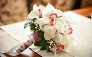 Свадебный букет из орхидей (фото)