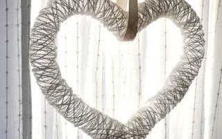 Мастер-класс: бумажная гирлянда из сердец на свадьбу своими руками