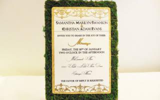 Мох в декоре свадьбы. 6 удивительных моховых идей