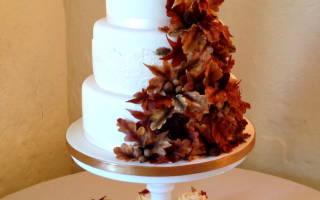 Свадебный торт для осени