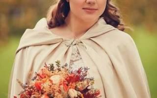 Осенние свадебные букеты невесты
