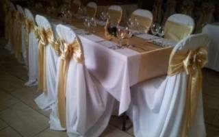 Чехлы на стулья своими руками: как сшить свадебную накидку на стул своими руками, мастер-класс