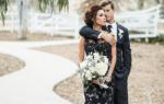 Черно-белые свадебные платья (фото)