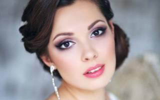 Свадебный макияж для брюнеток, мейкап для невест с темными волосами