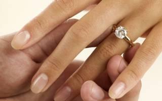 «На какой палец на помолвку одевают кольцо девушке?[