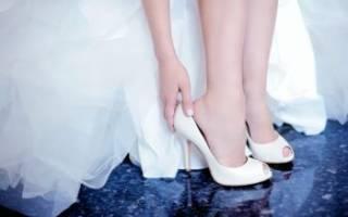 Свадебные розовые туфли