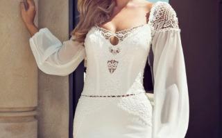 Свадебные платья с рукавами (фото)