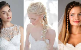 «Свадебные косы на длинные волосы: греческая коса, коса на бок[