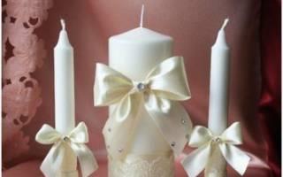 «Как необычно украсить свечи на свадьбу своими руками?[