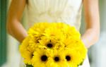 Свадебные букеты из гербер