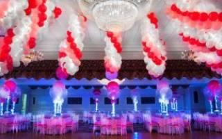 «Шары на свадьбу – лучшее оформление праздника[