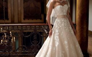 Бежевые свадебные платья, фото платья невесты бежевого цвета