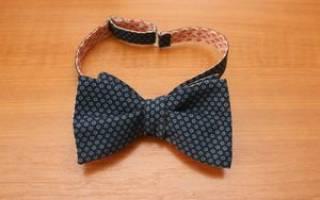 Мастер-класс: галстук-бабочка своими руками