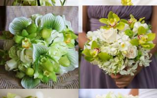 Свадебный букет из орхидей (20 фото)