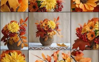 Осенний букет своими руками