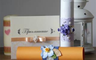Фото свадебных приглашений из ткани