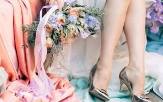 Синие свадебные туфли для невесты