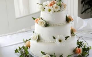 «Трехъярусный торт на свадьбу – лучшие идеи и способы декорации[