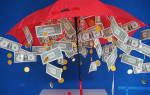 «Как сделать в домашних условиях зонт с деньгами на свадьбу?[