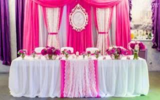«Мастер-класс по оформлению свадебного стола молодоженов[