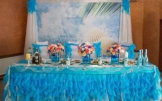 Бирюзовая свадьба, оформление свадьбы в бирюзовом цвете