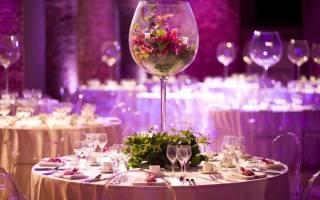 Декор свадебного зала, как самостоятельно украсить свадебный зал