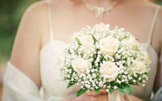 Свадебные букеты с гипсофилой