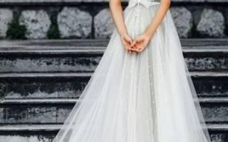 «Отличительные черты свадебных платьев со шлейфом[