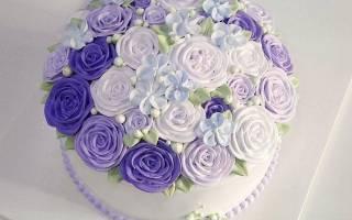 Фото одноярусных свадебных тортов
