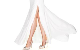 Бежевые свадебные туфли для невесты