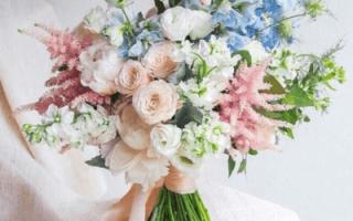 Зимний свадебный букет невесты (фото)