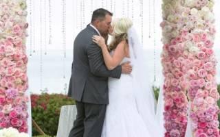 Розовая свадьба с эффектом омбре
