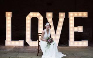 Объемные буквы на свадьбу своими руками + 3 мастер-класса с фото и видео
