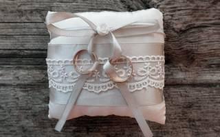 «Подушечка для колец на свадьбу своими руками: пошаговая инструкция[