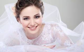 Нюдовый свадебный макияж