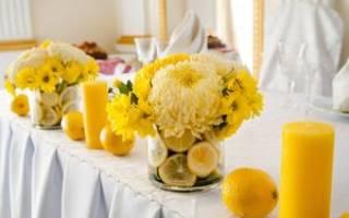 Желтая свадьба: оформление, фото, идеи для свадьбы в желтом цвете