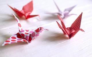 Как сделать бумажного журавлика: схема оригами, видео