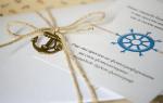 Пригласительные на свадьбу в морском стиле