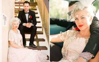 «Свадебные платья в стиле 50-х годов: советы по выбору[